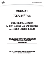 2020-21 Bulletin Supplement for Test Takers with Disabilities or Health-related Needs