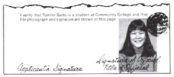 Image of confirmation of identity letter