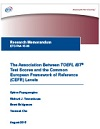 The Association between TOEFL iBT Test Scores and the Common European Framework of Reference (CEFR) Levels