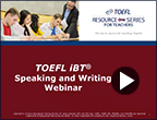 How ETS Scores the TOEFL iBT Test Video