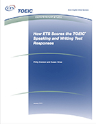 Cover of How ETS Scores the TOEIC Speaking and Writing Test Responses