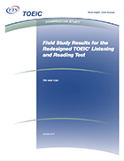 Cover of Field Study Results for the Redesigned TOEIC Listening and Reading Test