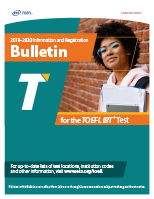 2019-20 TOEFL iBT Registration Bulletin