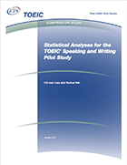 Cover of Statistical Analyses for the TOEIC® Speaking and Writing Pilot Study