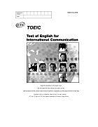 TOEIC Listening and Reading Sample Test