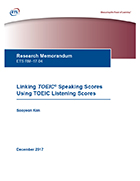 Cover of Linking OPIc Levels to TOEIC® Speaking Scores