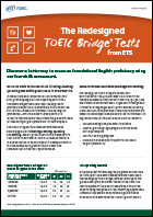 Redesigned TOEIC Bridge® Tests flyer