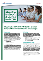 Mapping the TOEIC Program on the Common European Framework of Reference